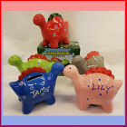 DINOSAUR STYLE MONEY BOX  PERSONALISED WITH ANY WITH NAME OR INITIALS free