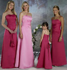 Pink/Red Chiffon Formal Prom/Bridesmaid Cocktail Party Evening Dress Size 4-18