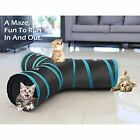Cat Puppy Kitten Rabbit Tunnel 3 Way Extensible Collapsible with Pompon and Bell