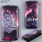 Harry Potter Gryffindor Badge Bifold Wallet Card Coin bag Zipper purses cosplay