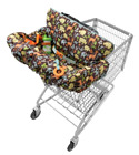 Shopping Cart Cover Infantino Compact Tote Foldable with Safety Harness Belt