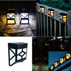Solar Powered Wall Mount LED Light Outdoor Path Garden Fence Landscape Lamp CA
