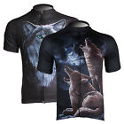 New Men's Cycling Short Sleeve Jersey Bike Bicycle Shirt Wolf 2 Style Size S-3XL