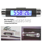 New Digital LED Auto Car In-Outdoor Thermometer W/Sensor Temperature LCD Display