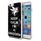 For Various Phones Design Hard Back Case Cover Skin - Black Im A Unicorn