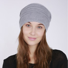 Women Warm Winter Wool Knit Beanie Fur Hat Crochet Ski Cap Hot PN