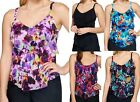 St. Tropez~Mesh 3-Tiered Tankini Swimsuit TOP ONLY~A274031