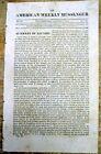 1814 War of 1812 newspaper w long report ofThe BATTLE of CHIPPAWA Ontario CANADA
