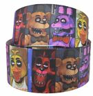 "Five Nights At Freddy's Grid 1"" Wide Repeat Ribbon Sold in Yard Lots USA Seller"