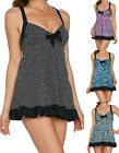 Fit 4 U~Dresskini Ruffle Dress with Tie Front ONLY~Brief NOT Included~A289454