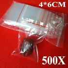 500pcs 4X6CM Small Ziplock Clear Poly Bag Reclosable Plastic Jewelry Baggies