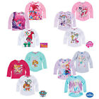 Girls Long Sleeve T-Shirt Top Trolls My Little Pony Age 2-12 Cotton New Official