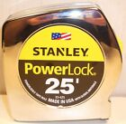 STANLEY POWER LOCK 25' OR 16' TAPE MEASURE 2X BLADE LIFE MYLAR COATING BRAND-NEW