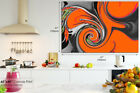 AB559 Orange Paint Swirl Modern Abstract Canvas Wall Art Framed Picture Print