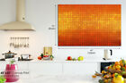AB877 Orange Black Gradient Abstract Canvas Wall Art Framed Picture Print