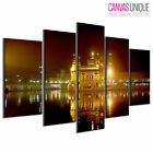 PC409 Golden Temple Amristar India  Scenic Multi Frame Canvas Wall Art Print