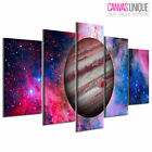 PC955 Trippy Space Jupiter Stars Scenic Multi Frame Canvas Wall Art Print
