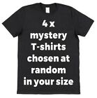 4 x Surprise T-Shirts In Your Size Chosen At Random From Our Range - Lucky Dip!