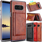 activate at&t go phone sim card online - For Samsung Galaxy Note 8 Phone Case Card Wallet Leather Stand Slim Armor Cover