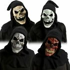 AC248 Skull Mask With Attached Shroud Halloween Horror Scary Skeleton Zombie