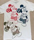 Seditionaries MICKEY MOUSE Drug Fix Punk T-SHIRT multi prints Sex Pistols Sm 36""