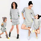 Family Clothes Mother Baby Women Kid Girl Sweatshirt Dress Pullover Sweaters WYQ