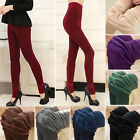 Women Winter Thick Warm Fleece Lined Stretch Slim Skinny Leggings Pants Trousers