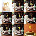 20pcs Shiny Christmas Snowflake Deer Cupcake PickS Cake Topp
