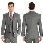 Slim Fit Two Buttons Formal Best Man Gray Classic Man Wedding Suit Groom Tuxedos