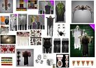 Halloween Party Decorations Hanging Skeleton Reaper Zombie Blood Spiders Props