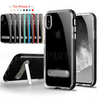 For Apple iPhone X Case Kickstand Shockproof Silicone Gel TPU Clear Cover Skin