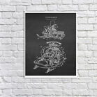 Vintage Snowmobile Unframed One Single Art Poster #2 snowmobiling Wall Decor