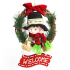 Christmas Wreath Door Hang Garland Santa Claus Snowman Ornaments Wall Car Decor