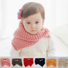 Внешний вид - Kids Infinity Scarf  Baby Warm Knitted Loop Scarves w Button Toddler Fall Outfit
