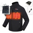 Men heating jacket 7.4 v Lithium-Ion Jackets Coat motorcycle riding warm clothes