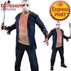 CA467 Deluxe Jason Voorhees Friday The 13th Licensed Horror Mens Costume + Mask