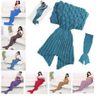 Adult Kid Shark Mermaid Tail Shape Blankets Soft Snuggle-in Sleeping Bag Costume