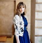 Karen Millen KY175 Floral Print Snap Evening Dress Stretch Cardigan Knit 8 - 12