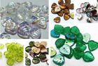 9(mm) HEART SHAPE CZECH GLASS LEAF BEADS - CHOICE OF COLOUR - PACK OF 20/40