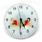 31cm Clear Glass Clock for Sublimation Heat Press - Components Included