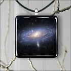 ANDROMEDA DEEP SPACE FAR GALAXY SQUARE PENDANTS NECKLACE MEDIUM OR LARGE -dhy6X