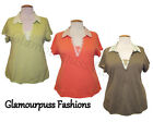 BNWOT Cotton Mock Layered Shirts Top Blouse Choice of 3 Colours: Sz 22/24