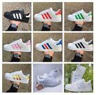 Leather Men Women Superstar Casual Lace Up Sneakers Trainer Sports Shoes UK Sell