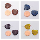 2 Red-Brown/Blue/Purple/Amber German Heart Shaped Glass Beads size 23x20x5.5mm