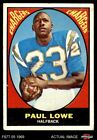 1967 Topps #121 Paul Lowe -  Chargers VG $5.0 USD