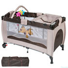Portable Infant Child Baby Travel Cot Bed Playpen Bassinet Entryway Foldable