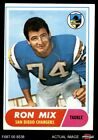 1968 Topps #89 Ron Mix Chargers EX $2.3 USD on eBay