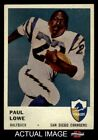 1961 Fleer #157 Paul Lowe Chargers EX $9.5 USD