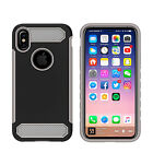 Dual Layer Carbon Fiber Style Slim Armor Case for IPHONE X