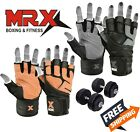 MRX Weightlifting Gloves Gym Workout Weight Training Lifting Wrist Strap Glove